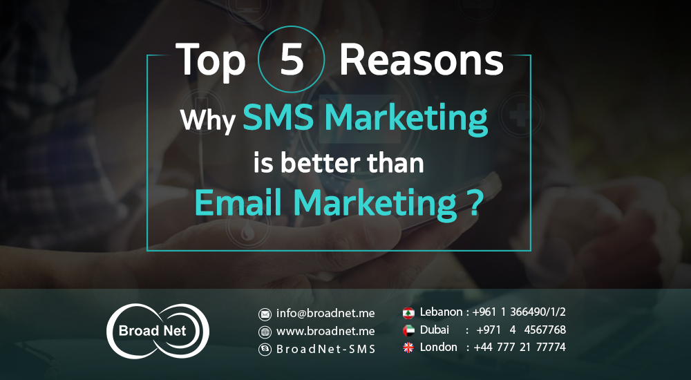 Top 5 Reasons Why SMS Marketing is better than Email Marketing