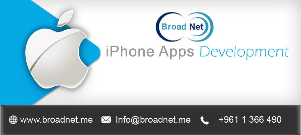 Hire BroadNet's Iphone app development services and Mount Your Business Growth Tremendously
