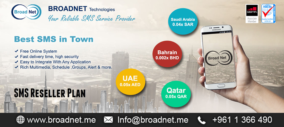 International Bulk SMS Messaging Service Provider, Reseller UAE