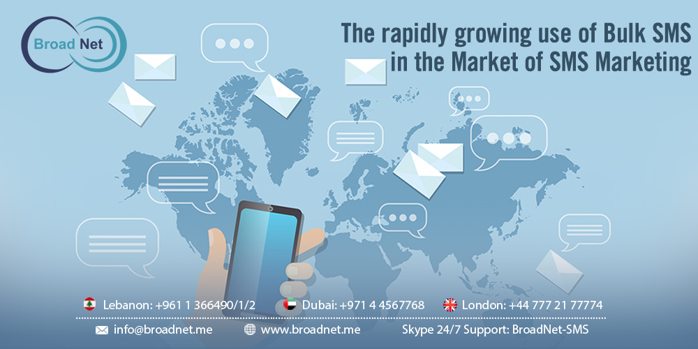 The rapidly growing use of Bulk SMS in The Market of SMS Marketing