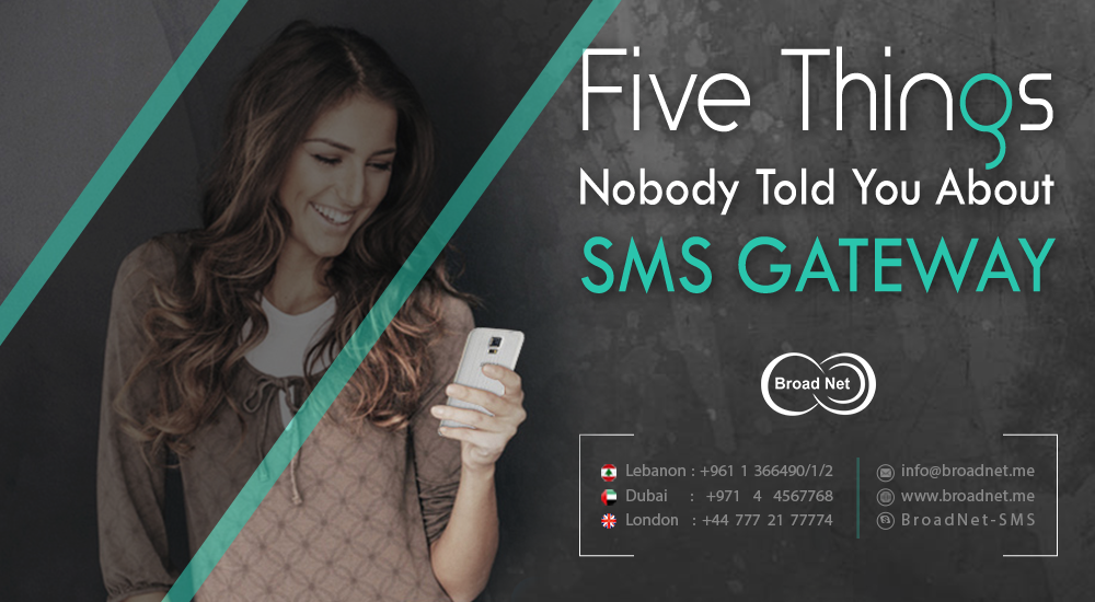 Five Things Nobody Told You about SMS Gateway