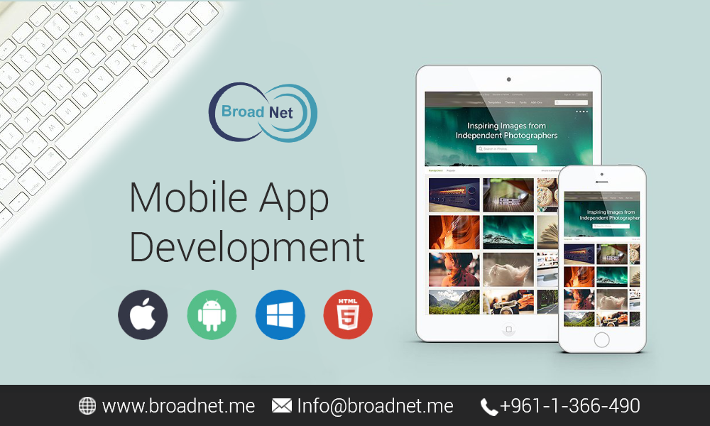 Discussing the steps step by step BroadNet Technologies take in while developing a mobile app