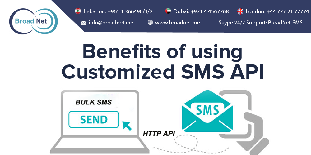 Benefits of using Customized SMS API